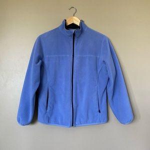 {Lands' End} Cerulean Zip-Up High Collar Jacket